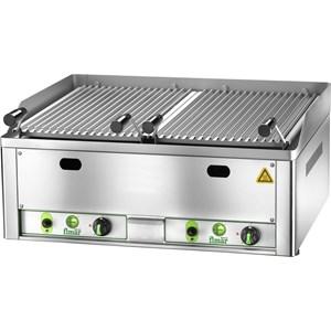 GRILLE À PIERRE DE LAVE GL - Mod. GL/33 - Grille de cuisson en forme de V, en acier inox et antichute graisses - Puissance 6,5 kW - Alimentation méthane - GPL - Dim. 33x54xh22 cm  - Norme CE
