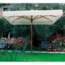 PÔLE CENTRAL PARAPLUIE-MOD. CADRE en PALLADIUM STANDARD 3 x 3-bois-taille 300 x 300 x 280 cm L P H
