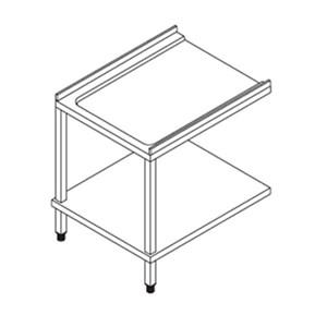 TABLE DE SORTIE POUR LAVE VAISSELLES À CAPOT- MOD. PL - GAUCHE /DROITE - AVEC TABLETTE INFÉRIEURE - Pour lave vaisselles mod. X110E, X120E, X150E ed SM110TH, SM120TH, SM150TH