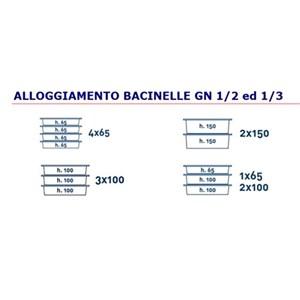 CONTENEUR ISOTHERME ,OUVERTURE FRONTALE - MOD. AF6 -POUR LE TRANSPORT DE RÉPAS MULTI PORTIONS - CHAUDS, FROIDS OU CONGÉLÉS- GASTRONORM GN1/2 e 1/3 - CAPACITÉ' Lt. 30,5 - DIM. cm L 41 x P 36 x 44 H - NORME  CE