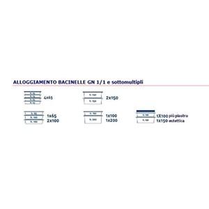 CONTENEUR ISOTHERME ,OUVERTURE FRONTALE - MOD. AF7 -POUR LE TRANSPORT DE RÉPAS MULTI PORTIONS - CHAUDS, FROIDS OU CONGÉLÉS- GASTRONORM GN1/1, 1/2 e 1/3 - CAPACITÉ' Lt. 63 - DIM. cm L 44 x P 64 x 48 H - NORME  CE