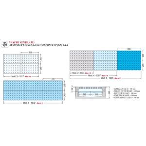 CUVE D'EXPOSITION EMPOTRABLE RÉFRIGÉRÉE - MOD. ARMONIA VT (GN) - POUR GASTRONOMIE - POUR BACS GN - Temp. °C +4/+10 - VOLTAGE MONOPHASÉ V 230/1/50 Hz - RÉFRIGÉRATION VENTILÉE - GAZ RÉFRIGÉRANT R452a - DÉGIVRAGE AUTOMATIQUE PAR PAUSE