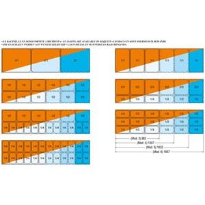 CUVE D'EXPOSITION EMPOTRABLE CHAUFFANTE ÉQUIPÉE DE PETITES CUVES GN - MOD. ARMONIA GN DRY - POUR GASTRONOMIE - TEMPÉRATURE°C +30/+70 - BACS COMPATIBLES GN 1/4, 1/3, 1/2, 2/3, 1/1, 2/1
