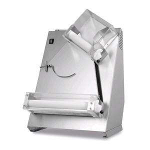 FORMEUSE À PIZZA - MOD. TQS30  -  2 paires de rouleaux (rouleaux supérieures pliés) - Diamètre pizza 14/30 cm - Poids de la pâte 80/210 gr - Puissance moteur W 250 - monophasé 230V/50Hz - Norme CE - Poids 27 Kg