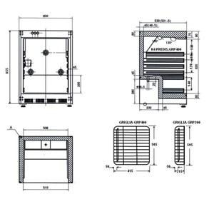 ARMOIRE RÉFRIGÉRÉE EN TÔLE PEINTE ET ABS - STATIQUE - ECO - Mod G-ER200 - CLASSE ÉNERGÉTIQUE A - N. 1 PORTE - CAPACITÉ 130 LT - Température +2º/+8ºC - Dim. 60x58,5x85,5 cm - Norme CE