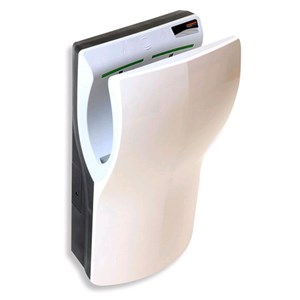 ÉLECTRIQUE à la main sèche de dernière génération-Mod. Blanc ABS-A vertical DUALFLOW-insertion-Super rapide et super économie d'énergie