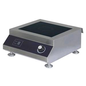PLAQUE À INDUCTION - Mod.TOP1INDU5 - Plan de cuisson en vitro céramique - Surface à induction Ø 260 mm - Alimentation MONOPHASE V230/1 - Puissance Kw 5 - Dimensions totales 400 x  500 x h200 mm - Poids 7 Kg - Norme CE