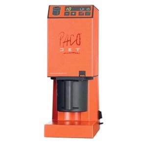 PACOJET-MOD. PACOJET JUNIOR-capacité verre lt 0,8-2000 tr/mn lame vitesse-alimentation 230 V/50 Hz single phase puissance W 1000-affichage avec boutons-CE