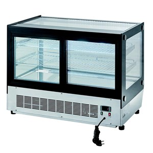 PRÉSENTOIR DE COMPTOIR / VITRINE RÉFRIGÉRÉEEN ACIER INOX - Mod. SQUARE WTF160L - FROID VENTILÉ - TEMPÉRATURE +2/+8°C - Capacité 160 L - Alimentation MONOPHASÉE 230V/1/50 Hz - Puissance : 242 W - Dimensions L 90 x P 56 x 68h cm