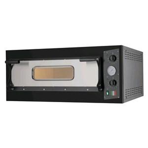 FOUR ÉLECTRIQUE À PIZZA - Mod. BLACK 4 - 1 chambre - Surface de cuisson en  pierre réfractaire - Dimensions chambre L 66 x P 66 x h 14 cm - 4 Pizzas (Ø 33 cm) - Puissance 4,7 kW - Norme CE