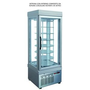 VITRINE RÉFRIGÉRÉE AVEC ÉCRAN PANORAMIQUE POUR PÂTISSERIE-MOD. TEK/19-externe structure anodisée en ALUMINIUM-LOW EMISSION verre-SINGLE PHASE POWER SUPPLY-puissance 500 W capacité: 430 Lt-VENTILATED réfrigération-TEMP. ° C + 2 / + 10-RÉFRIGÉRANT R507 AUTOMATIQUE DÉGIVRENT-DIM. CM 67 X p 64 X h 193 L