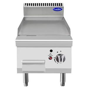 PLANCHA PROFESSIONNELLE À GAZ, PLAQUE INOX LISSE - DE COMPTOIR - Mod. CV7I4IEC - Puissance 7 kW - Dimensions L 40 X P 70 X H 54,7 cm - Norme CE