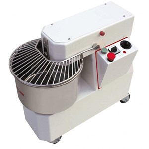 PÉTRIN À SPIRALE - TÊTE FIXE - Mod. KHMI33 - Alimentation 230 V monophasée - Capacité cuve 33 L - Poids pâte 25 kg - Puissance 1,30 kW - Norme CE