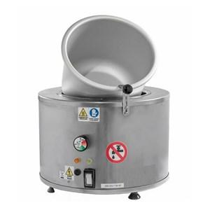 MACHINE DE CONFISAGE DES FRUITS PROFESSIONNEL-MOD. LISEZ-contrôlée inoxydable température acier coquille en aluminium cuisson casserole-4-1,5 Kw-puissance alimentation capacité Kg 230 V simple phase-taille 40 X H 35 cm ø-CE